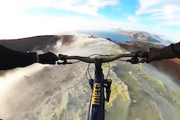 Video: Kilian Bron Rides the Ridges of a Sulfuric Volcano