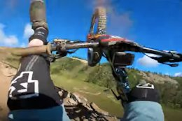 Video: POV from Jesse Melamed's Stage 1 Crash in the Kicking Horse Enduro - Crankworx Summer Series