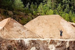 Video: The Mega Audi Nines 2020 Course Build Continues with a UFO Inspired Jump