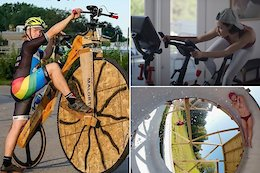 Slack Randoms: Swinging Static Bikes, a Loop-de-Loop Slip N Slide & a Scrap Lumber Penny Farthing