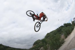 Video: Antoine Bizet's Lands World's First Opposite Cashroll on a DH Bike
