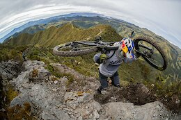 Video: Marcelo Gutierrez Helps Build and Rides a Wild Trail on Cerro Bravo Volcano