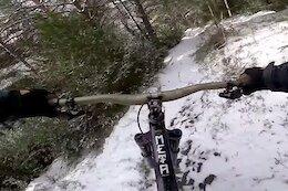 Video: Antoine Vidal & Alex Rudeau Ride Steep and Snowy Trails in Andorra