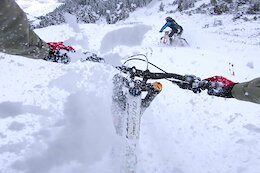 Video: Vinny T, Antoine Buffart & More Shred Snowy Laps in Morgins Bikepark
