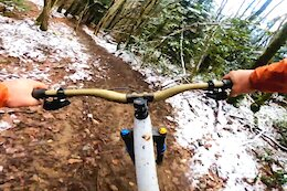 Video: Max Chapuis Shreds his Snowy & Slippery Home Trails