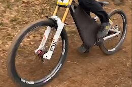 Spotted: Amaury Pierron is Racing a Prototype Commencal DH Bike