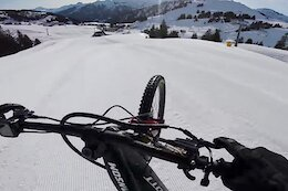 Video: Vinny T Gets Loose on Ski Slopes & Snow Covered Trails with his eMTB