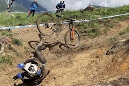 Raw Video: Carnage from Practice - World Cup DH Leogang 2021