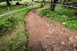 POV Video: Jesse Melamed Crushing Stage 3 & Its Massive Climb - EWS Val di Fassa 2021