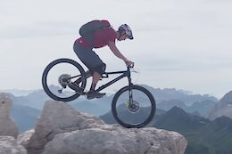 Video: Tom Oehler Rides Exposed Rocky Lines in the Dolomites