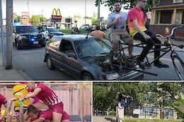 Slack Randoms: MTBer vs Moose, Red Bull's Forrest Gump & A Bike Powered Car