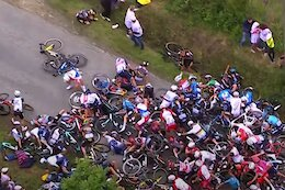Video & Update: Spectator Arrested for Causing Massive Pileup on Stage 1 of the Tour De France
