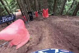 Video: George Brannigan's Timed Training POV from the Les Gets DH World Cup 2021