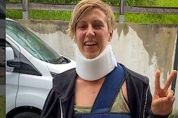 Nina Hoffman Breaks Collarbone in Worst Crash of Her Life