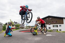 Video: Lukas Knopf Challenges Claudio Caluori to a Bunny Hop Contest, Mini-Bike Challenge, & More