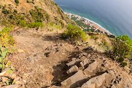 POV Video: Andrew Neethling Rides Tight Switchbacks Along the Edge of a Cliff