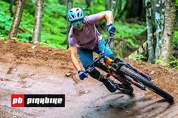 Video: Riding Quebec's Newest Bike Park Blind with Christina Chappetta & Jason Lucas - First Impressions