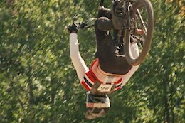 Video: Isak Leivsson's Attempted Backflip on the Final Jump of the World Cup DH Track (Updated)