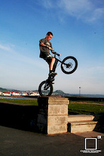 Alex backwheeling on a post - Cubed Square Photography - Laurence CE