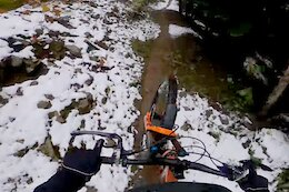 Video:  Jesse Melamed's Snowy Practice POV from the 2021 Canadian Enduro Championships