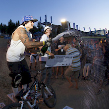Lacondeguy takes home $15000 for top spot in Monster Energy Slopestyle @ Kokanee Crankworx 2008