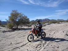 Riding the baja 1000 course