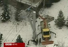 Gondola tower partially collapses at Whistler!
