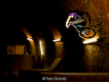 The most crazy skatepark.... and its in a tunnel! As allways Sam laying down the flatest of tables..