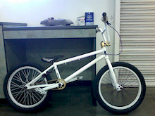 upgrades: KMC K710-SL Gold Chain, and set of Fit FAF 2.25 tires monster trucking, sprayed the stem, sprocket, and spacers gold.