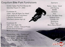 Fundraiser for Coquitlam Bike Park at Lafarge Lake