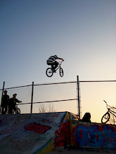 hopping the fence at the penetang skate park