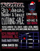 3rd Annual Kona Clothing Friends and Family Sale