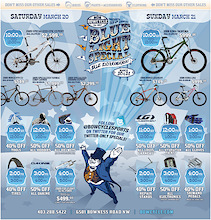 Bow Cycle's 4th Annual Blue Light Sale