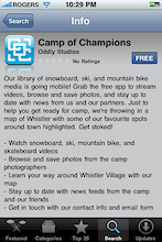 The Camp of Champions iPhone App Launches