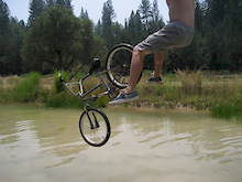 Backflip attempt into my pond, didnt work so well