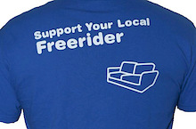 New Support Your Local Freerider T-Shirts.