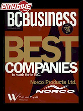 Norco Recognized as one of the 'Best Companies to Work for in BC'