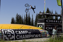 Camp of Champions Big Air Bag at Santa Cruz Bike Festival