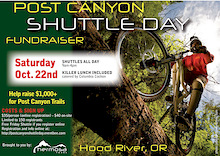 Oct 22nd Post Canyon Shuttle Day Trailbuilding Fundraiser