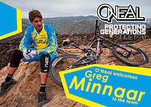 O'Neal Officially Welcomes Greg Minnaar