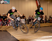 Indoor Pumptrack racing at London Bike Show