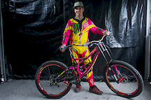 Sam Hill races for Breast Cancer Awareness