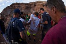 Clip: Zink 60 foot Canyon Gap Crash