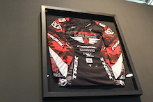 Winner: Worn, Signed, Framed Aaron Gwin Jersey