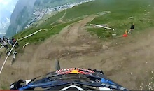 Video: Marcelo Gutierrez's Air DH Helmet Cam - Crankworx Les Deux Alpes