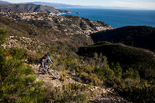 Jakub Vencl Riding the Trails of Finale Ligure
