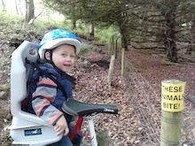 Me and my son out and about(The sign says it all)