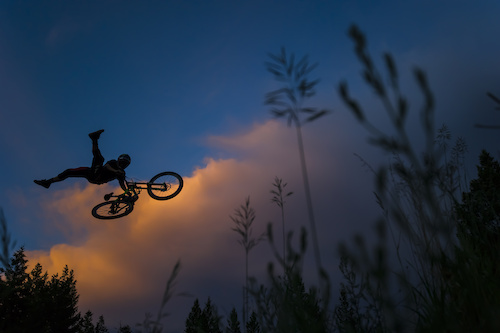 Not too many people have style like this guy.  This shot is from Aggy's upcoming Monster edit and my first day ever shooting with him.  I remember while everyone else was shooting into another amazing Kamloops sunset, I decided to switch it up and shoot this silhouette against the colorful backdrop. As he flew through the screen, I knew I had nailed a serious banger shot. One of my all-time favs.