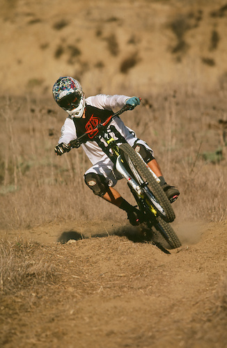 riding the moto rut track