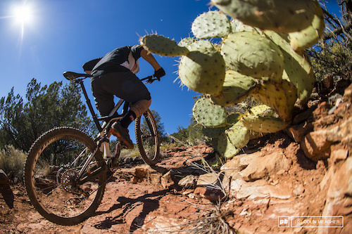 Mike Levy testing the Specialized Enduro 29er in Sedona.